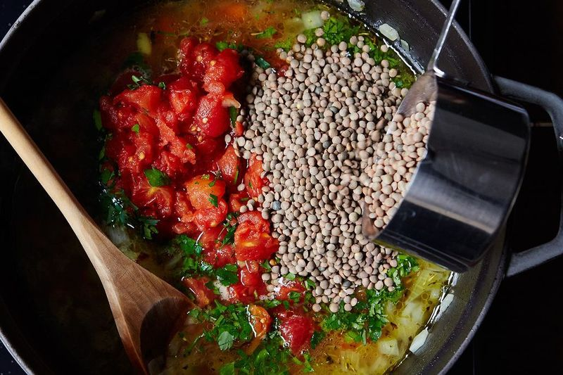 Regular green lentils are still special to us.