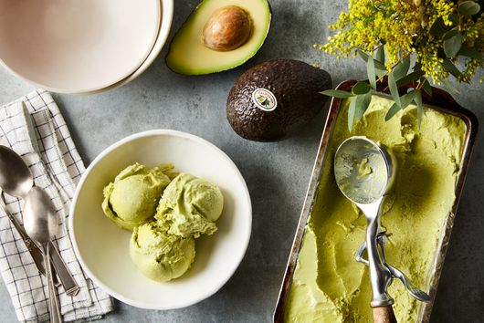 No-Churn Avocado Ice Cream With Lime & Coconut