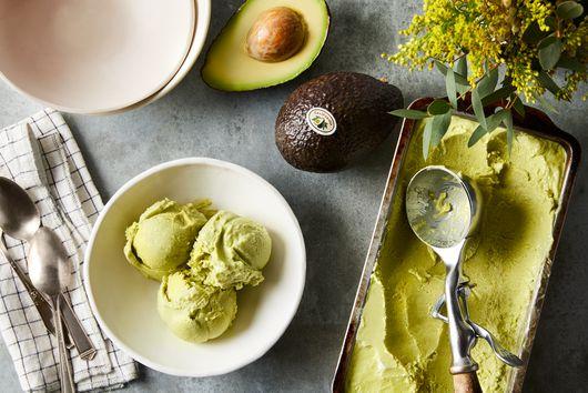 No-Churn Avocado Ice Cream With Lime & Coconut