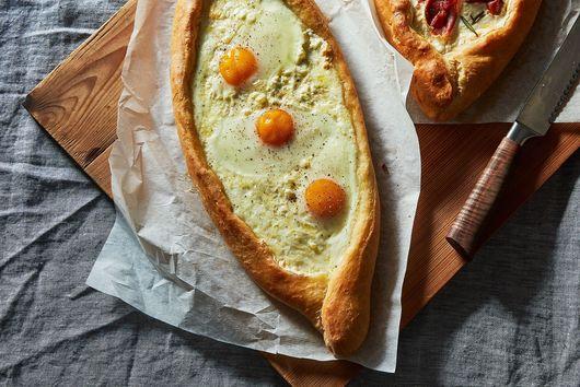 Khachapuri (Georgian Cheese and Egg Bread)