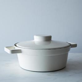 Enamel Aroma Pot with Lid Trivet