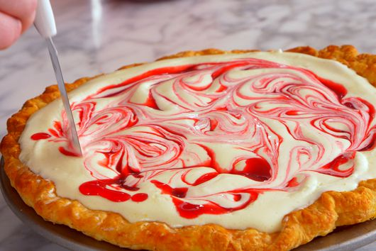 Lemon Raspberry Chiffon Pie