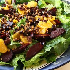 Beet, Orange, Olive and Walnut Salad