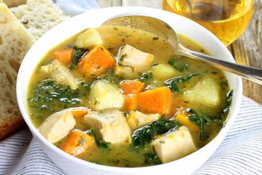 Kale Butternut Squash Turkey Soup