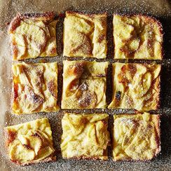 Dorie Greenspan's Custardy Apple Squares
