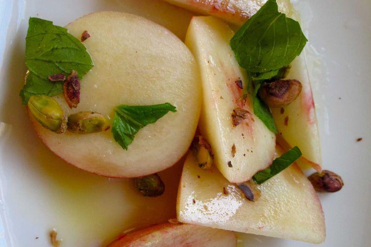 Pistachio Mint Nectarine Salad