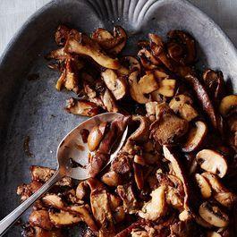 Stuart Brioza's Mushrooms in Pickle-Brine Butter