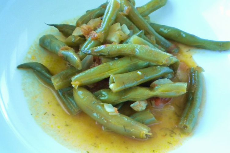 Braised Greek Green Beans