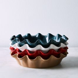 Emile Henry Ceramic Ruffled Pie Dish