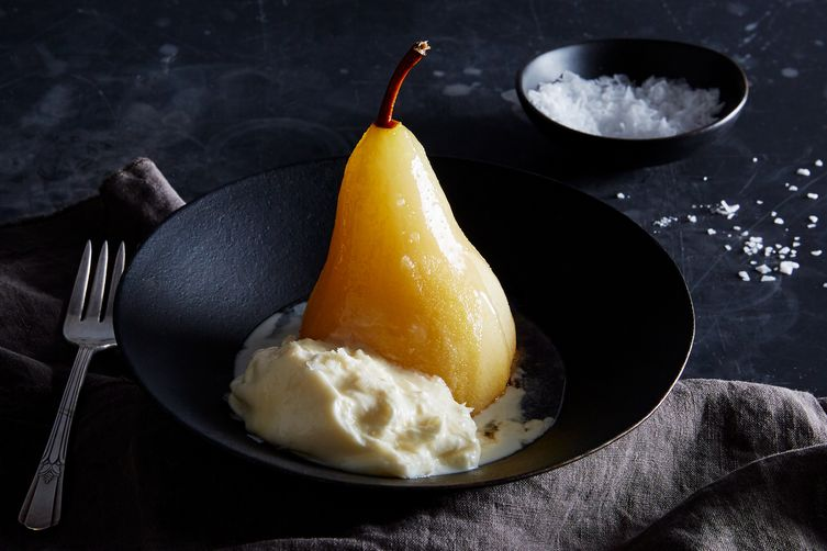 Honey-Poached Pears With Burrata
