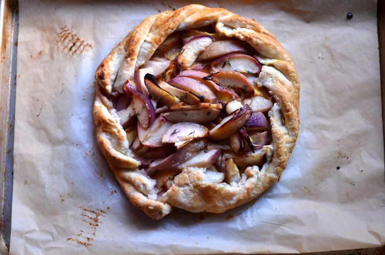 White Peach and Lemon Thyme Galette