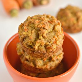 Healthy Carrot Apple Flax Muffins