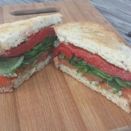 Cannellini Bean & Roasted Red Pepper Sandwich