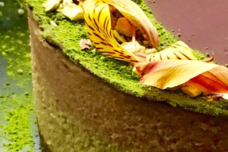 Raw Vegan Matcha Snickers Cheesecake