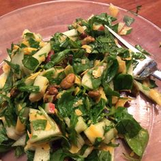 (Everybody Needs A) Quickie Spinach Apple Salad