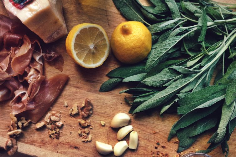 Sage + Prosciutto Tartines