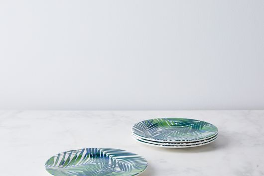 Palm Leaf Melamine Plates (Set of 4)