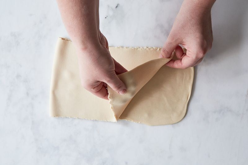 Fold it in half.