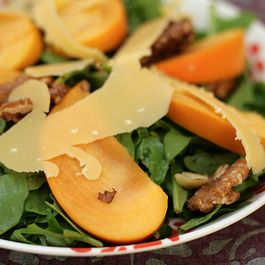 Autumn Salad with Persimmons and Walnuts