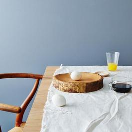 Circular Natural Wood Platter