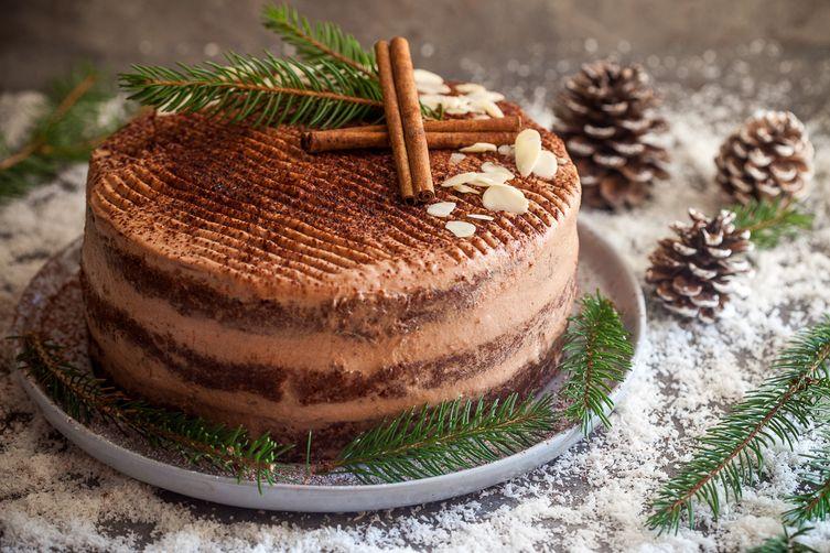 Easy Naked Chocolate Cake