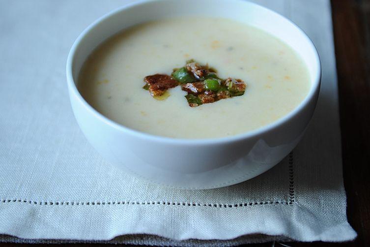 Creamy Potato Soup with Bacon Vinaigrette Recipe on Food52