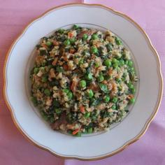 Spiced Uzbekistani Plov (Pilaf) With Herbs, Scallions And Peas