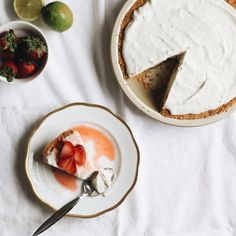 Vegan Coconut Lime Ice Cream Pie