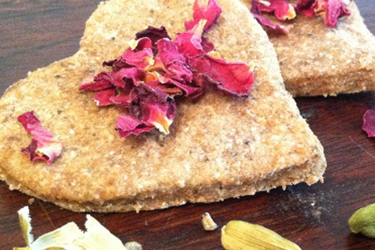 Nankhatai Cookies With Rose & Chai Spices
