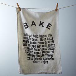 """Bake"" Tea Towel"