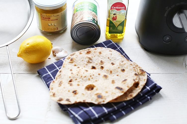 Easy Peasy Hummus With Tortillas