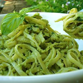 Avocado Basil Pesto Pasta
