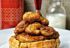 Eggnog Chicken & Waffles