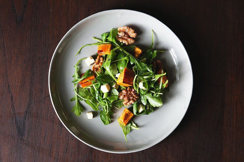 sweet potato arugula salad
