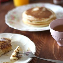 Breakfast pancakes & spiced orange honey