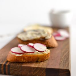 Radish And Anchovy Butter Toasts