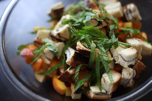 Roasted Fruit Panzanella