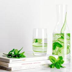 CUCUMBER AND MINT FLAVOURED WATER