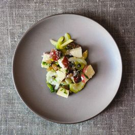 Sweet, Salty, Crunchy, Zingy Apple and Celery Salad
