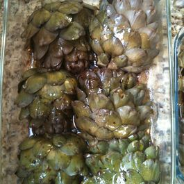 Marinated & Grilled Spring Artichokes