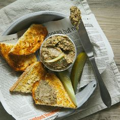 Fennel and Mushroom Paté with Grainy Mustard
