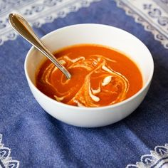 Tomato Soup with Cumin and Red Pepper Chili