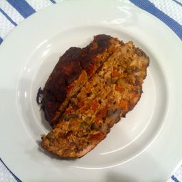 Turkey Meatloaf with Caramelized Veggies
