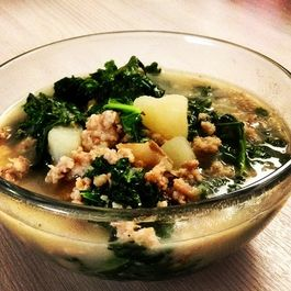 Turkey, Fennel and Kale Soup