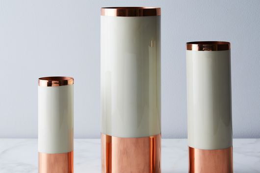 [OLD] Copper, Brass, and Enamel Louise Vases