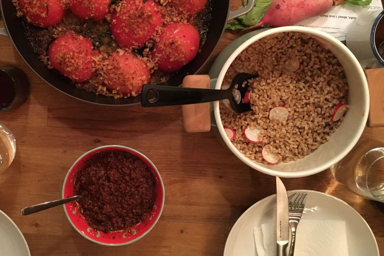 Farro Salad with Radishes and Fish Sauce Dressing