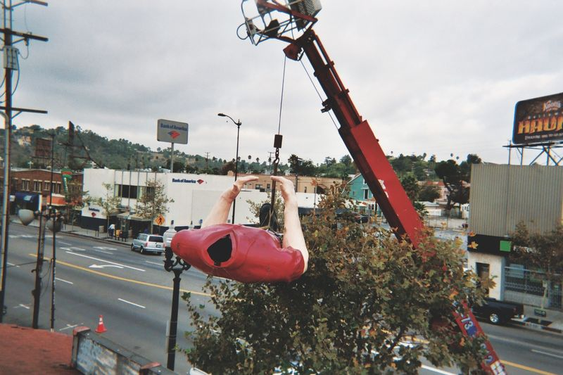 Mission: Lift Chicken Boy to his new home. (This is taken from the roof of Amy Inouye's studio, Future Studios.)