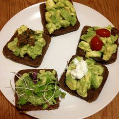 Mid-Century avocado toast