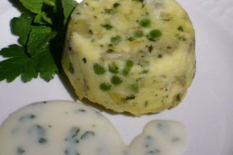 Spring Vegetable Timbales with Herbed Béchamel