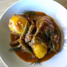 Balkan Potato, Paprika and Green Bean Stew
